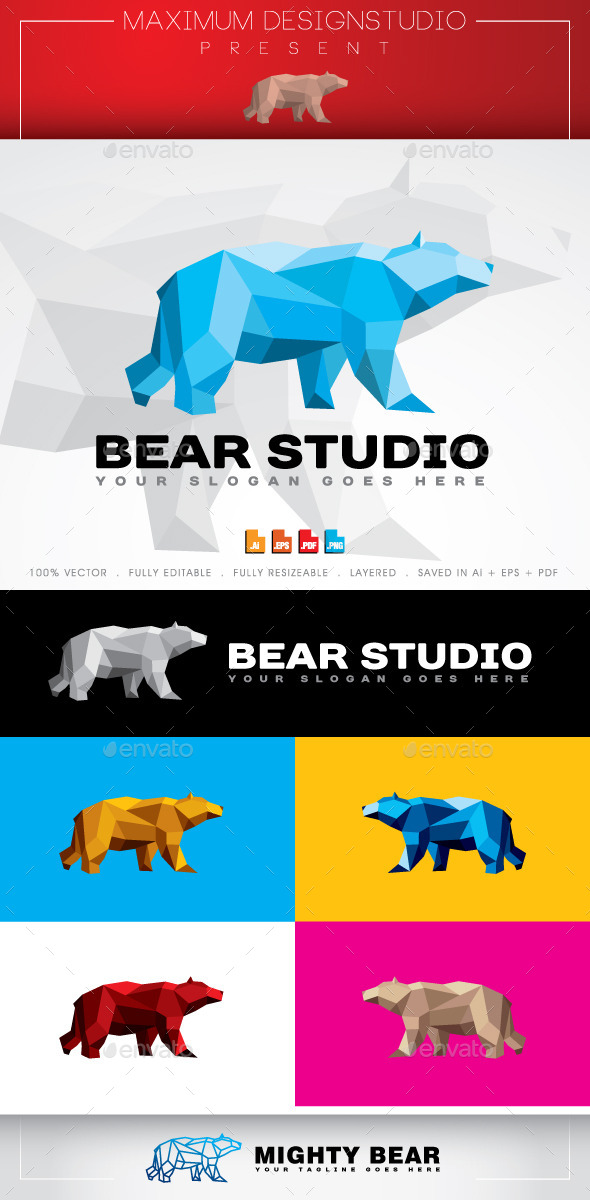 GraphicRiver Bear Studio Logo 10636314