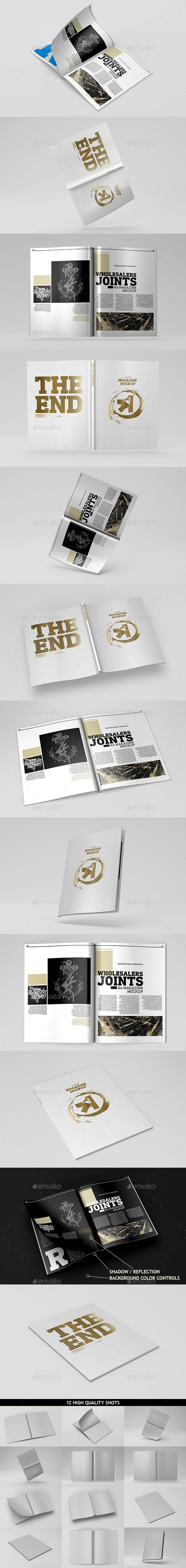 GraphicRiver A4 Magazine Catalog Mockup 10636324