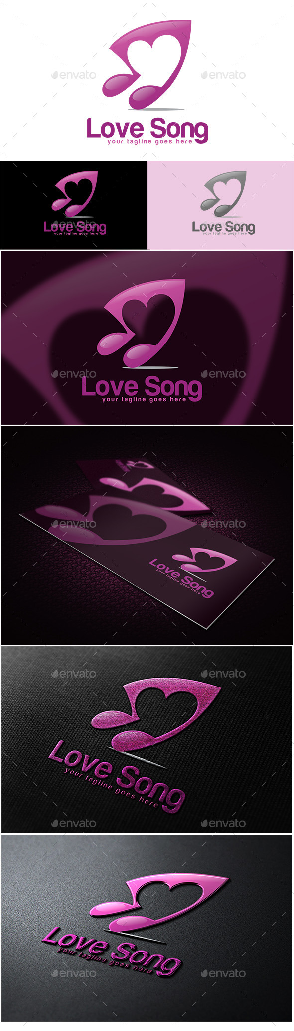 GraphicRiver Love Song Logo 10636327