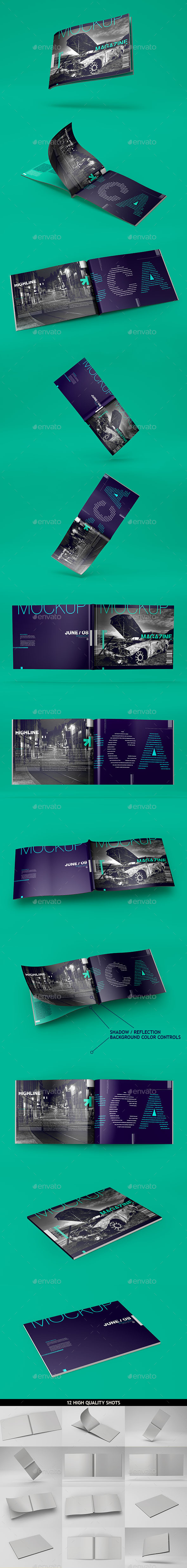GraphicRiver Horizontal A4 Magazine Catalog Mockup 10636354