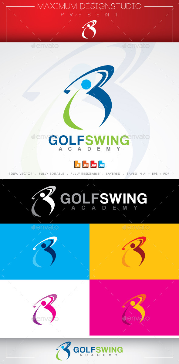 GraphicRiver Golf Swing Logo 10636387