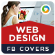 2 Web Design Facebook Covers - GraphicRiver Item for Sale