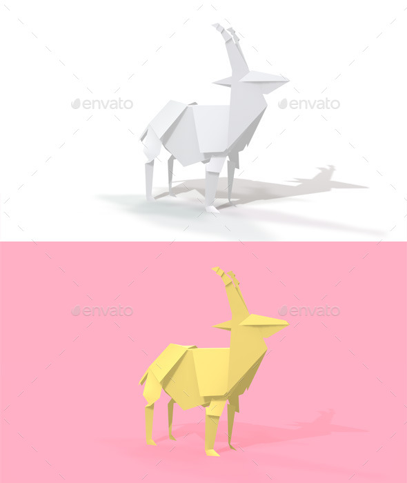 GraphicRiver Polygon Origami Antilope 10636519
