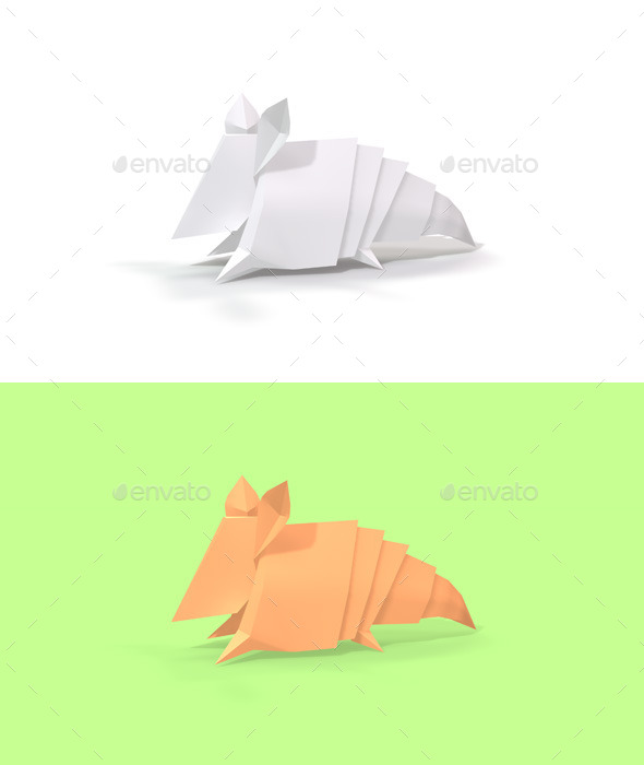 GraphicRiver Polygon Origami Armadillo 10636587