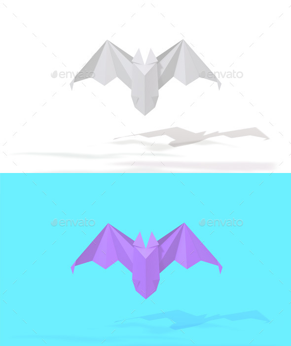 GraphicRiver Polygon Origami Bat 10636595
