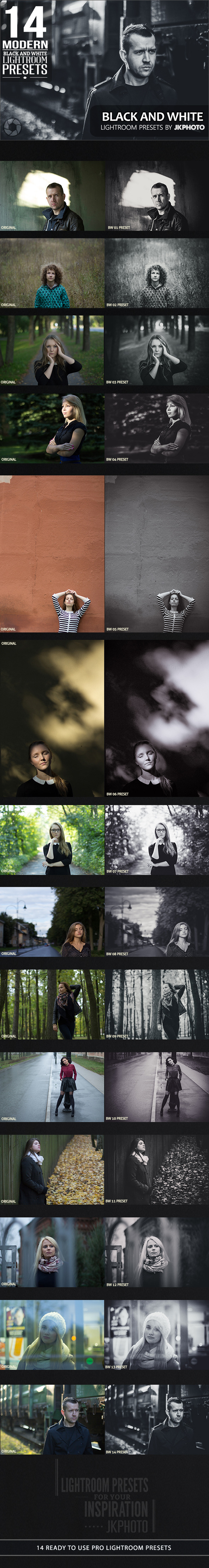 GraphicRiver 14 Black And White Lightroom Presets 10636672