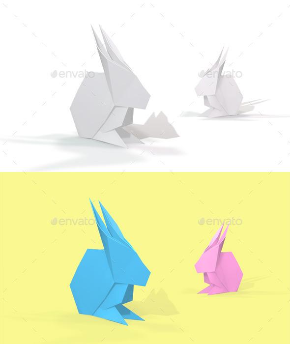 GraphicRiver Polygon Origami Rabbit 10636678
