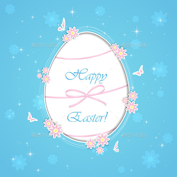 GraphicRiver Blue Paper Easter Egg 10636867