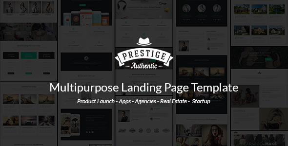 ThemeForest Prestige Responsive Multi-Purpose Landing Page 10637223
