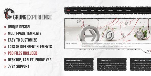 ThemeForest Grungexperience Premium Muse Template 10561709