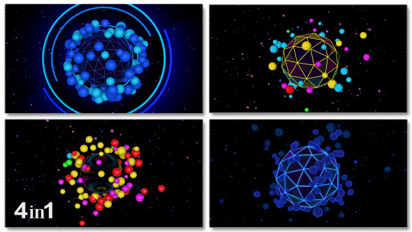 Sphere Space Colorful 4-Pack