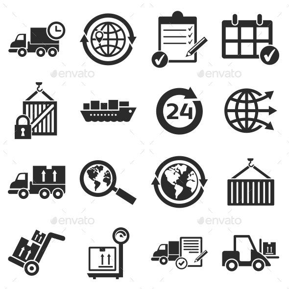 GraphicRiver Logistics Icons 10637648