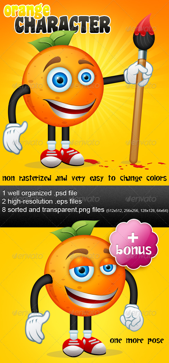 Orange Character & Bonus