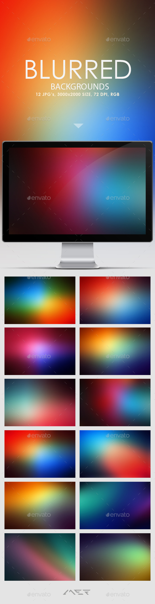 GraphicRiver Blurred Backgrounds 10637877