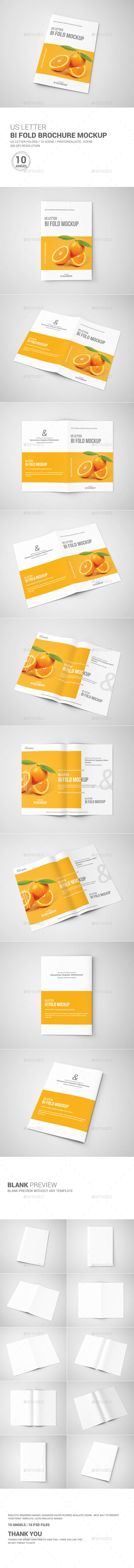 GraphicRiver Bi-Fold Brochure Mock-Up US Letter 10637895