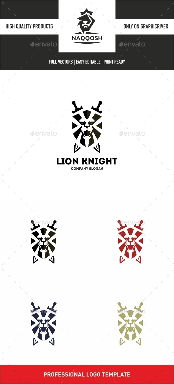 GraphicRiver Lion Knight 10637971
