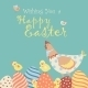 Easter Chicken with Easter Eggs - GraphicRiver Item for Sale