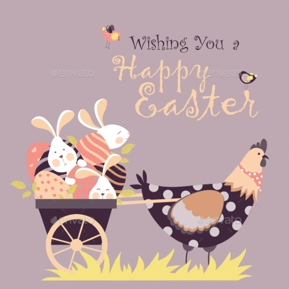 GraphicRiver Easter Background 10638044