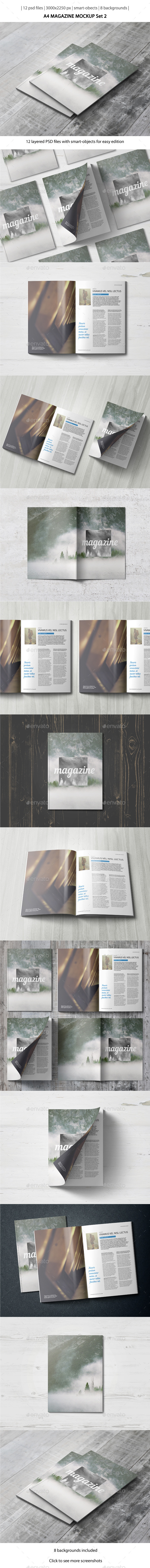 GraphicRiver A4 Magazine Mockup Set 2 10638187