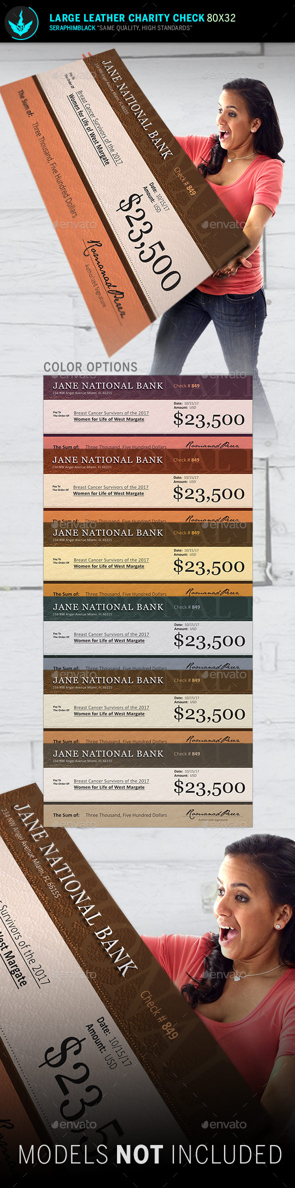 GraphicRiver Large Leather Charity Check Template 10638231