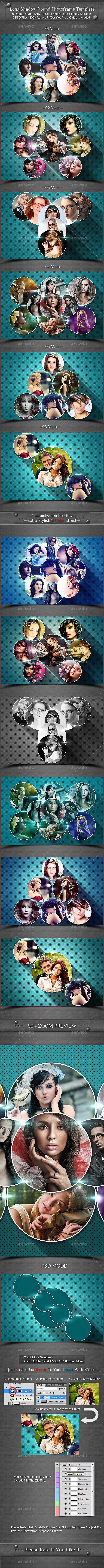 GraphicRiver Long Shadow Round Photo Frame Template 10638232