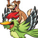 Weasel Riding Woodpecker - GraphicRiver Item for Sale
