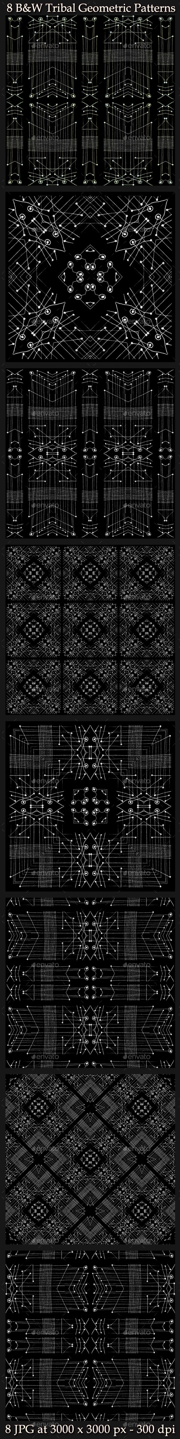 8 Tribal Geometric Patterns