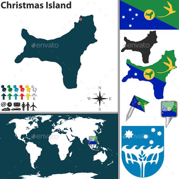 GraphicRiver Map of Christmas Island 10638945