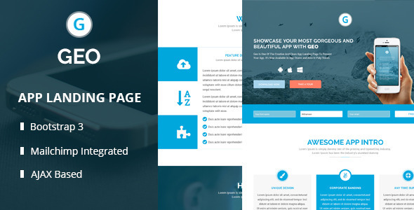 GEO - Responsive Bootstrap 3 App Landing Page Template