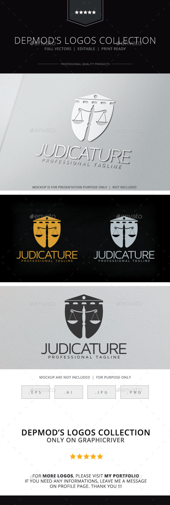 GraphicRiver Judicature Logo 10639103