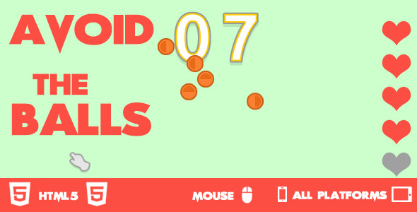 CodeCanyon Avoid The Balls HTML5 Game 10639184