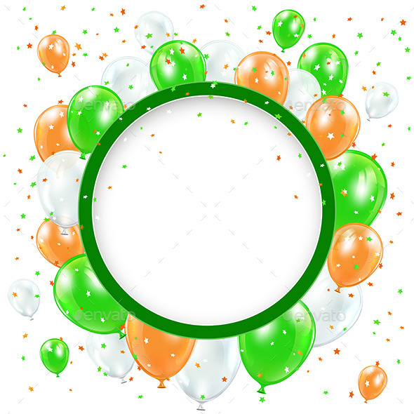GraphicRiver Round Banner with Balloons and Confetti 10639290