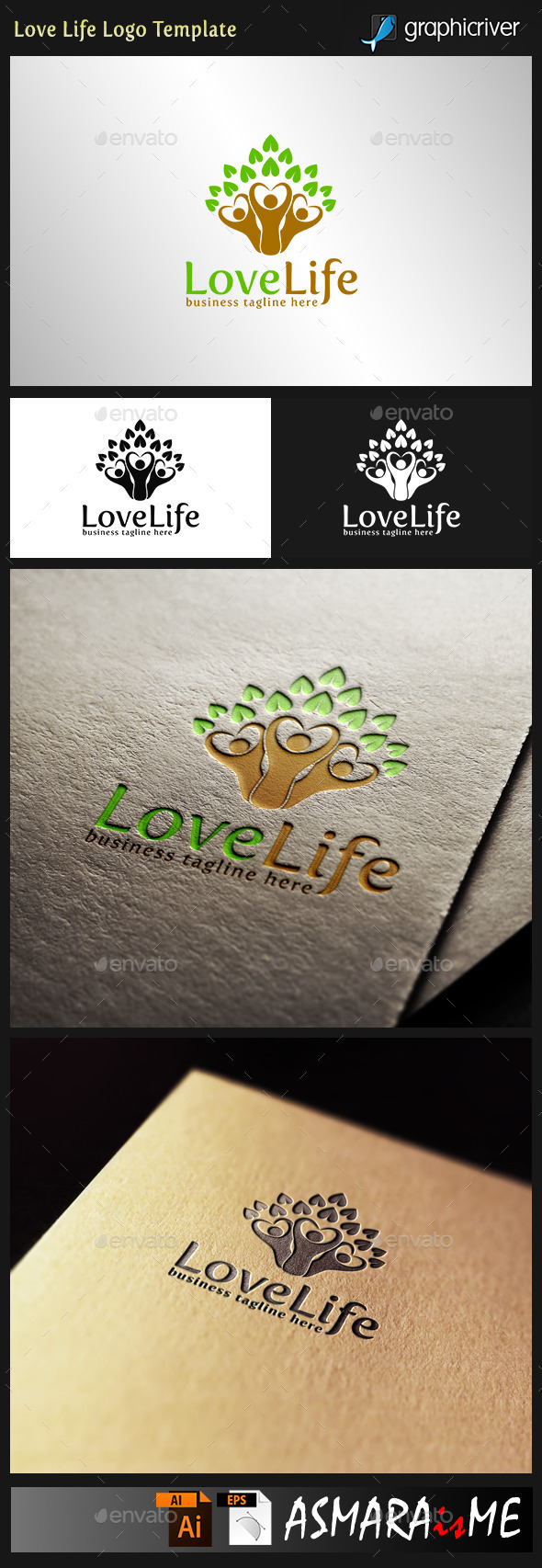GraphicRiver Love life Healthy Logo 10639335