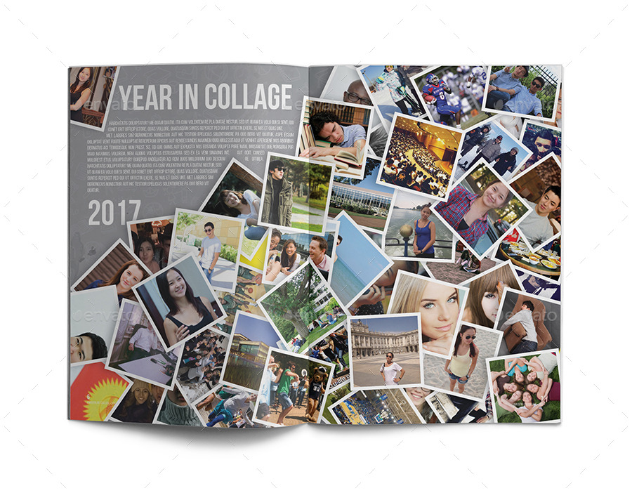 Yearbook template by zheksha graphicriver for Templates for yearbook pages