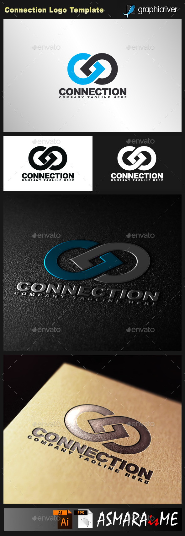GraphicRiver Connection Logo 10639568