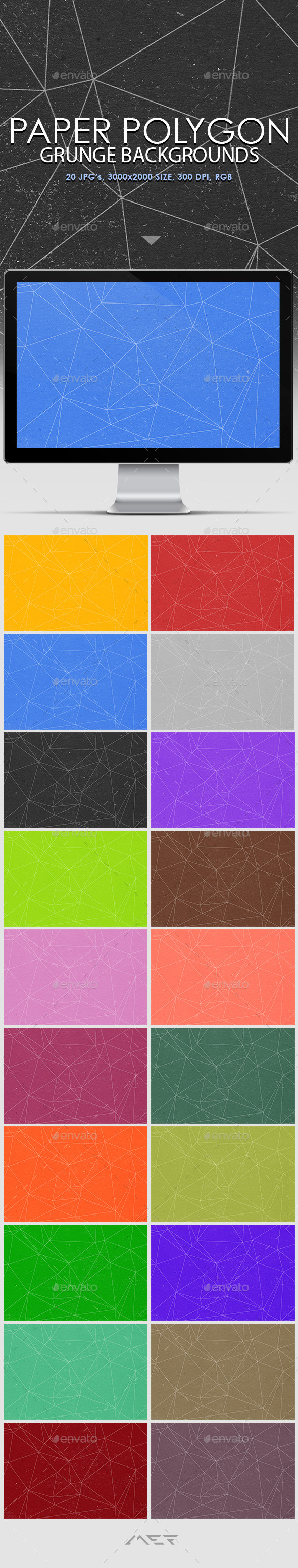 GraphicRiver Paper Polygon Grunge Backgrounds 10639791
