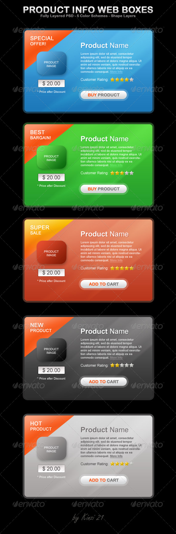 Product Info Web Boxes - Miscellaneous Web Elements