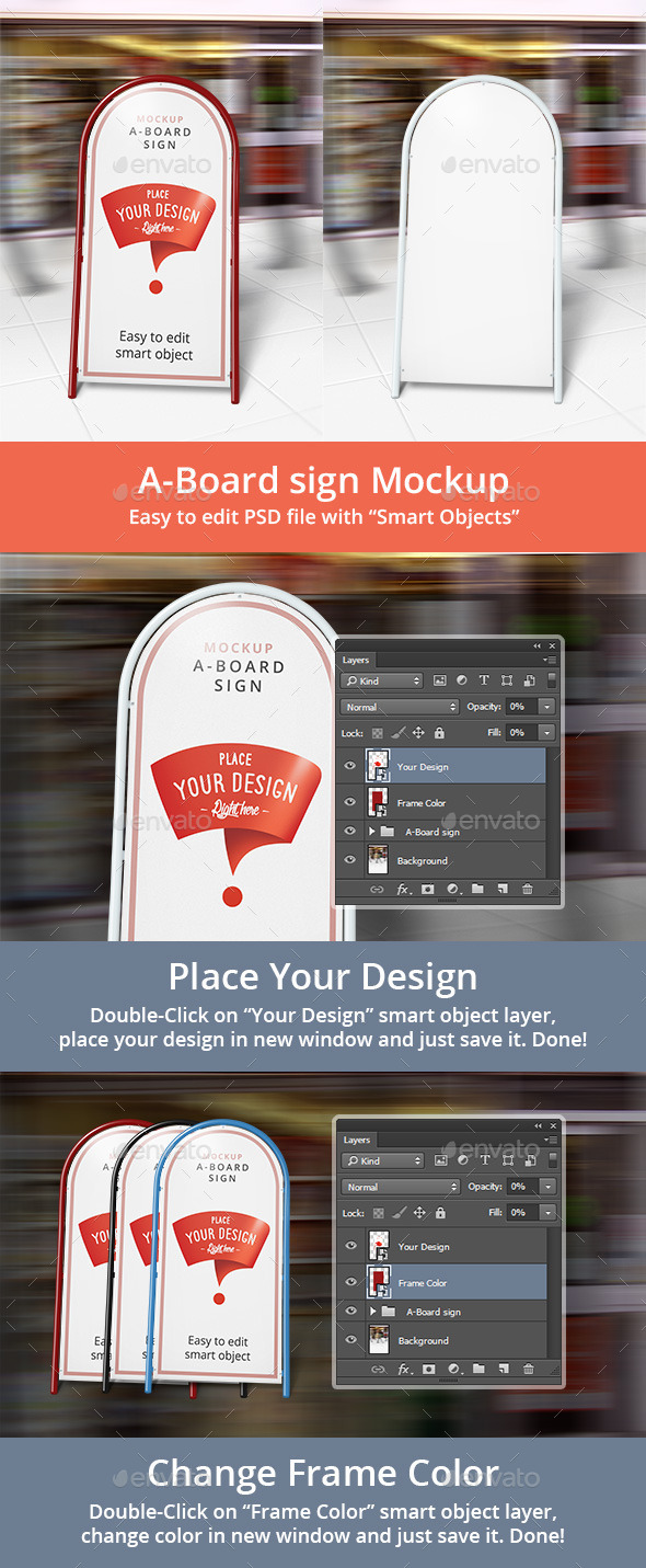 GraphicRiver A-Board Sign Mockup 10585227