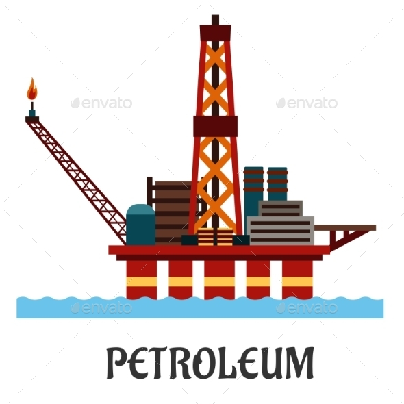 GraphicRiver Oil Offshore Platform in the Ocean 10639989