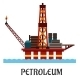Oil Offshore Platform in the Ocean - GraphicRiver Item for Sale