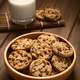 Chocolate Chip Cookies with Milk - PhotoDune Item for Sale