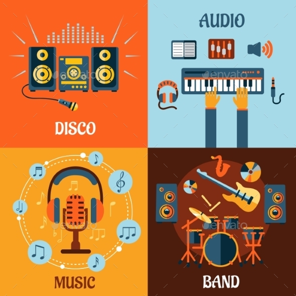 GraphicRiver Music Icons 10640259