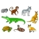 Cartoon Forest and Jungle Wild Animals  - GraphicRiver Item for Sale