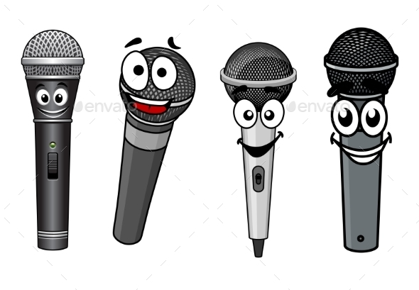 GraphicRiver Cartoon Microphones 10640300