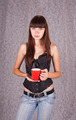 Girl with a cup - PhotoDune Item for Sale