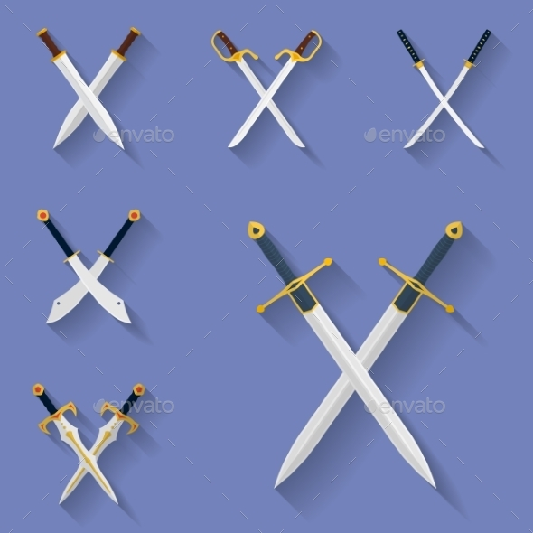 GraphicRiver Ancient Swords Icons 10640327