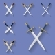 Ancient Swords Icons - GraphicRiver Item for Sale