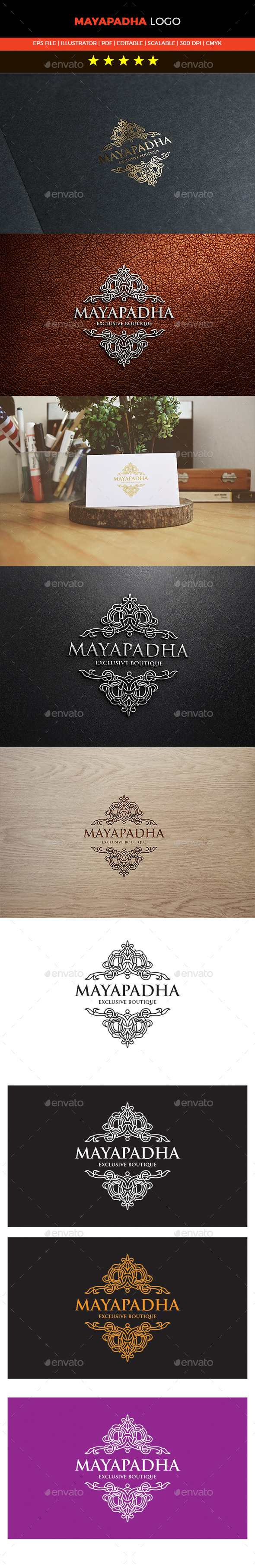 GraphicRiver Mayapadha Boutique Logo 10640531