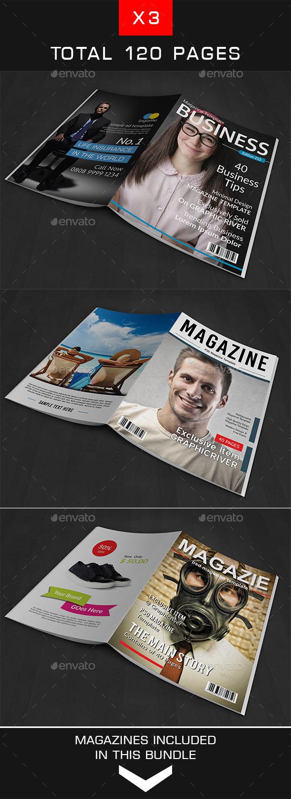 GraphicRiver A4 Magazine Bundle Vol 3 10640576