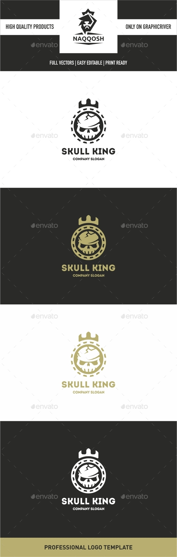 GraphicRiver Skull King 10640579